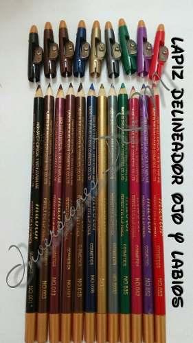 Delineador De Ojos Y Labios Micolor Paquete De 12 Unid Mac