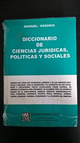 Diccionario De Ciencia Juridicas (Manuel Ossorio)