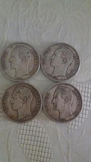 Moneda de Plata de 5 Bolivares Fuerte