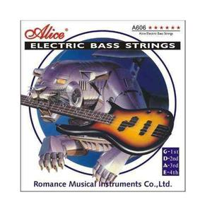 Set De Cuerdas Para Bajo Electrico Alice 4c Tension -media