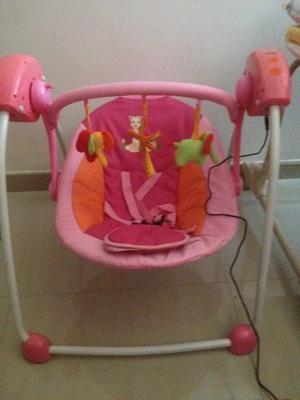 Silla Mecedora Para Bebés Tipo Columpio (rosada)