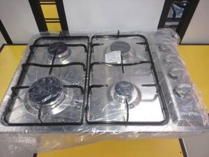 Tope De Cocina A Gas 4 Hornillas 60 Cm Frigilux Acero Inox.