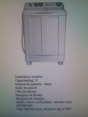 Lavadora Semi Automatico Doble Tina.. Marca China.. 12 Kilos