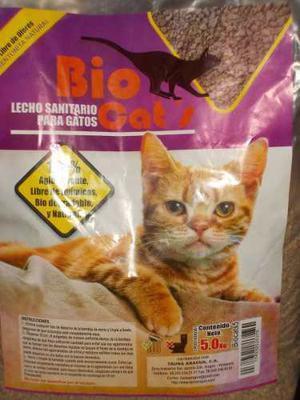 Arena Sanitaria Para Gatos Bio Cats 5 Kilos