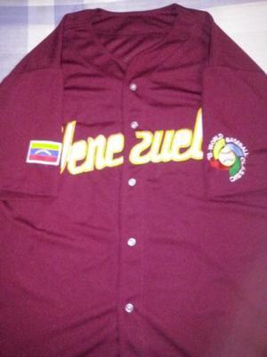Camisa De Venezuela Beisbol Caballero Clasico Mundial Nueva