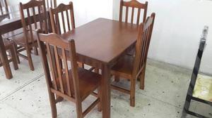 Venda de juego de comedor de madera rustica de posot class for Comedor 4 puestos madera