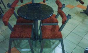 Juego Comedor 4 Puestos Mesa De Granito