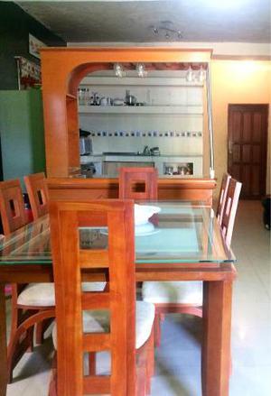 Juego De Comedor Y Muebles De Sala De Cuero En 250mil Bs C/u