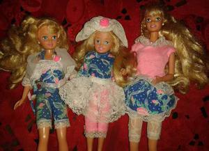 Barbie Set Trío De Hermanas Barbie, Skipper Y Stacie