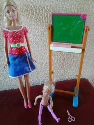 Barbie Y Kelly Maestra Marca Mattel Usada
