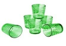 Juego De 4 Vasos De Vidrio Multicolores Envio Gratis