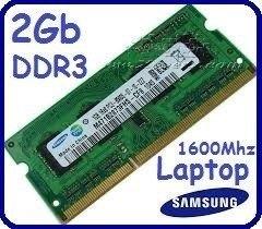 Memoria Ram Ddr3 De Laptop Nueva De 2gb