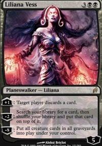 Cartas Magic The Gathering - Planeswalker - Liliana Vess