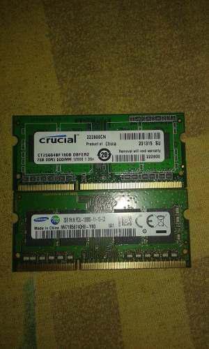Memoria Ram Ddr3 Para Laptop 2gb 1gb