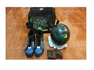 Pelota De Bowling Reactiva Con Bolso, Zapatos Y Muñequera
