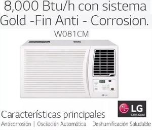 Aire Acondicionado Lg Ventana  Btu 110v R22 W081cm