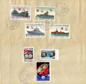 Estampillas- Sobres Expo Filatélica Soviética En España