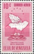 Estampillas Venezuela  Aereo Delta Amacuro