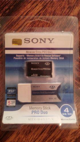 Memoria De Stick Pro Duo Psp 4gb Al Mayor