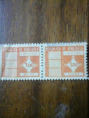 Timbre Fiscal 1,00 Bolivar. República De Venezuela.