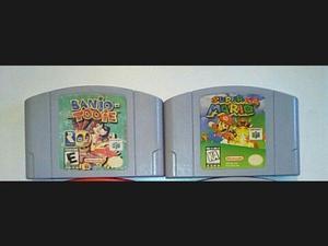 Caset Super Mario 64 Y Banjo Toiie