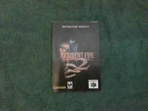 Manual De Resident Evil 2 64. Excelente Estado