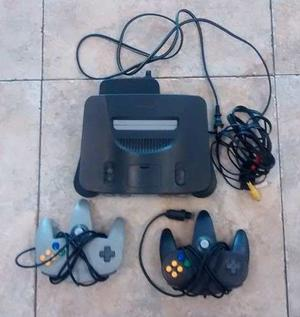 Nintendo 64 Con Dos Controles Y 3 Juegos