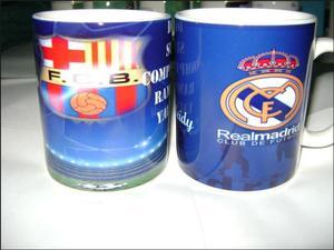Tazas De Porcelana De Barcelona Y Madrid 11 Oz Personalizada