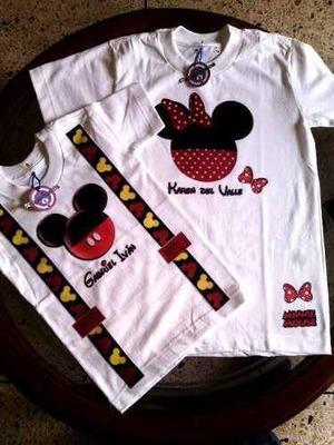 Franelas De Mickey Mouse Personalizadas Al Mayor Y Detal