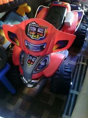 Moto Vks 4 Ruedas Con Cargador Para Niños