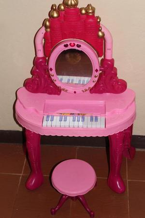 piano peinadora con luces y sonido oferta