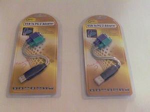Adaptador Dual De Teclado Y Mouse Ps/2 A Usb 2.0 Macho Nuevo