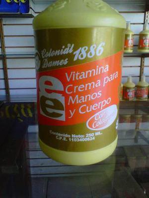Crema Humectante Vitamina E Y Colageno
