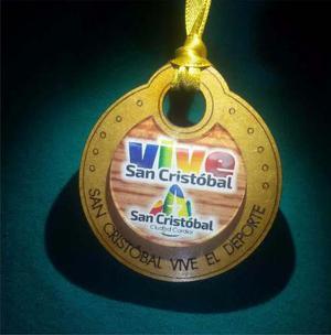 Medallas De Mdf Con Acrilico Premiacion 6cm Madera