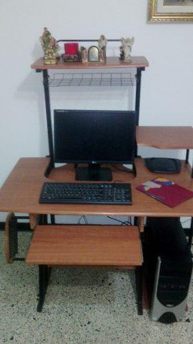 Mueble de madera para computadora e impresora posot class for Mueble para cpu