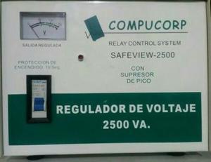 Regulador Voltaje Compucorp Safe-va De 6 Tomas Original.