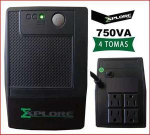 Ups Regulador De Voltaje Explore Power 750va 4 Tomas Backups