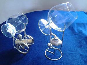Copas Cristal De Bohemia Para Coñac Con Base