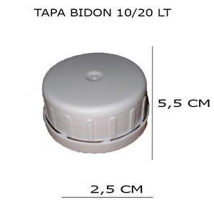Tapa Plastica Bidon 10 y 20 Litros Rosca con Precinto