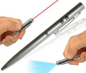 Bolígrafo + Apuntador Láser + Linterna.