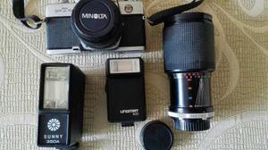 Cámara Fotografica Minolta Srt100x Con Accesorios