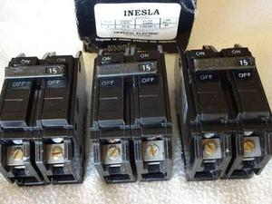 Breaker Thqc 2x15 Amp Superficial Inesla General Electric
