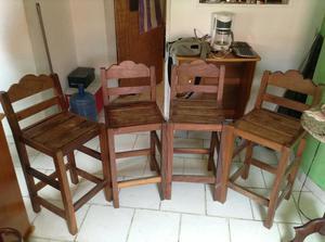 Sillas altas de madera para cocina barrabar posot class for Sillas altas de madera