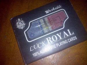 Cartas De Póker 100% Plásticas Lavables Nuevas Al Mayor Y