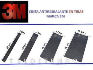 Cinta Antiresbalante 3m Tiras De 6cm Ancho Por 60cm De Largo
