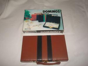 Domino Con Estuche T/maleta De Semi Cuero (nuevo Sellado)