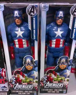 Figura Capitán América Héroe Original Hasbro 100%,