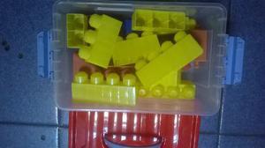 Juego De Lego En Caja. 24 Piezas Medianas. Oferta!!!