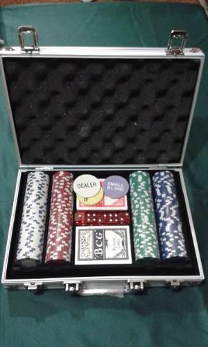 Maletín 200 Fichas Profesionales 11.5 Gramos Juego De Poker