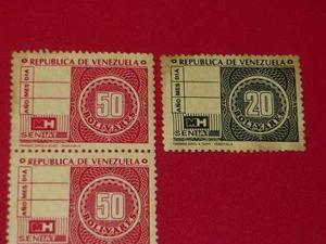 Antiguos Timbres Fiscales De 50 Y 20 Bolivares.lote Completo